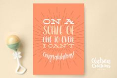 I Can't Even Congratulations Card by ChelsCreationsDesign on Etsy