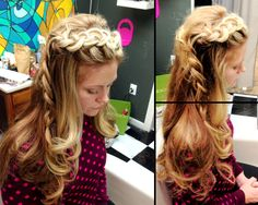 Inverted butterfly braid. She's got amazing hair so it's not hard to make it look good. #bohemianbraid #bridal #hippiechic