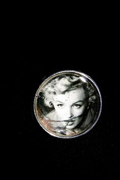 Film noir  liquid glass brooch by RenatasArt on Etsy, €10.00