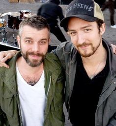 Ben Nichols with Frank Turner (and a Todd Beene hat)!