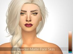 Face skin in 4 variations, works with maxis shades and all makeup.  Found in TSR Category 'Sims 4 Skintones'