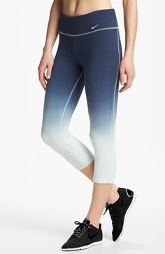 Very cute! Nike 'Legend 2.0' Dip Dye Capri Leggings available at #nike @ http://www.FitnessApparelExpress.com