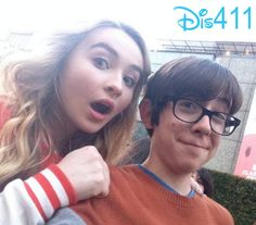 """Photo: Augie Isaac Had Fun Hanging Out With Sabrina Carpenter At The """"Million Dollar Arm"""" Premiere"""