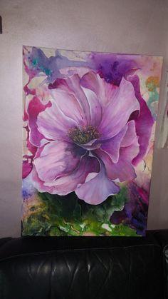 Abstract Flowers, Watercolor Flowers, Watercolor Paintings, Acrilic Paintings, Modern Art Paintings, Flower Wallpaper, Fabric Painting, Creative Art, Flower Art