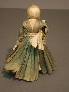 Beautiful Cornhusk Doll by May Deschamps in late 1940's