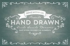 Check out Hand Drawn Curls & Banners Vol. 1 by MakeMediaCo. on Creative Market