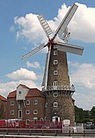 Maud Foster Windmill in Boston, Lincolnshire. Climb all 7 floors and see flour being made by wind-power in the finest and one of the tallest windmills in the Britian. Visit the Mill Shop and buy some traditionally ground flour or oats.