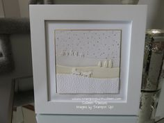 Home Decor with Stampin' Up! Sleigh Ride Edgelits. Details at www.stampingwithcolleen.com