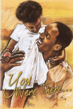 African American Christian Clip Art | African American Father's Day Gifts - artwork (unframed)