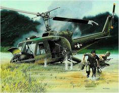 Bell UH-1 Iroquois of the USMC in Vietnam.