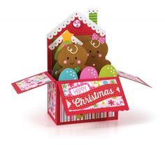 I (Kathleen (from Kat's Scrap Box) was published in the Scrapbook and Cards Today Magazine...Winter issue 2017 page 67 (69 on-line)!!!!! Gingerbread box card, Christmas in a box! Lawn Fawn, Doodlebug