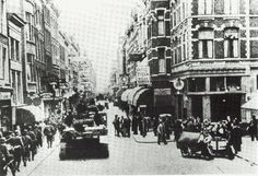 Kruiskade, Rotterdam ca.1940 Rotterdam, Back In Time, World War Two, Rue, Old And New, Netherlands, Holland, Dutch, Times Square