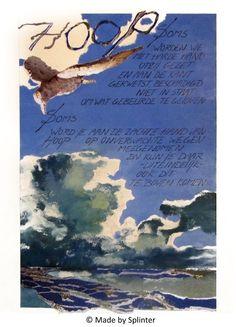 'Hoop' ansichtkaart gemaakt door Saskia Splinter #postcard #art #calligraphy #ansichtkaart