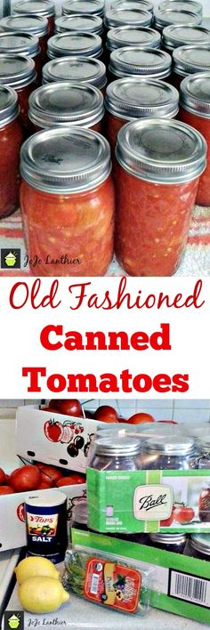 Old Fashioned Canned Tomatoes. A great easy tutorial & recipe so you can capture the taste of Summer and enjoy during the Winter months!