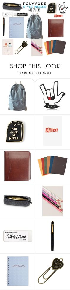 """""""Rule School: Cool Backpacks"""" by as-pretty-as-the-moon ❤ liked on Polyvore featuring WithChic, Dsquared2, Laser Kitten, Royce Leather, Mead, Chapstick, Cartier, backpacks, contestentry and PVStyleInsiderContest"""