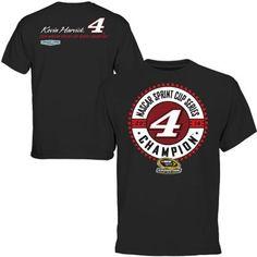 Mens Kevin Harvick Black 2014 NASCAR Sprint Cup Series Champion Final Turn T-Shirt