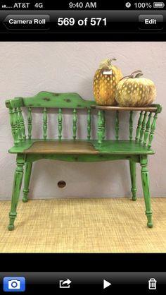 Green gossip bench