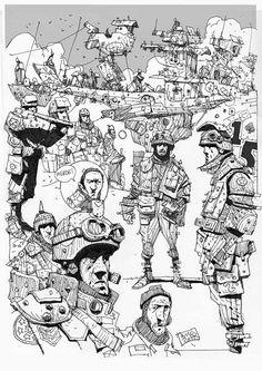 Sketchbook: Airborne doodles.