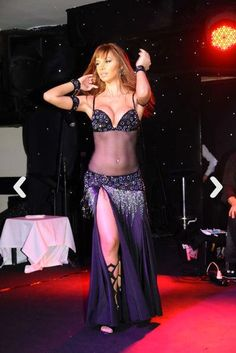 Didem Kinali : Black Belly Dancing Mesh Sheer Costume