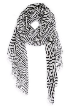 Jonathan Adler, how do you do it?  You're constantly coming up with things that I love!  ** Jonathan Adler 'Arcade' Ikat Print Scarf, $98 @ Nordstrom.
