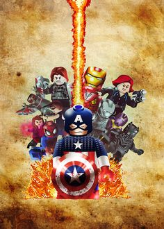 Mauro Vila Real: Civil War Lego - Digital ilustrattion
