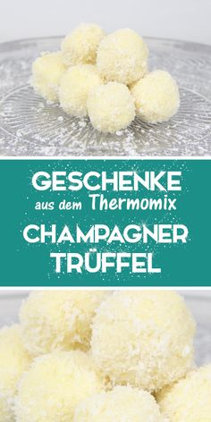 truffles - gifts from the Thermomix. - - truffles - gifts from the Thermomix. Thermomix Desserts, Easy Desserts, Dessert Recipes, Cooking With Toddlers, Champagne Truffles, Champagne Gifts, How To Cook Steak, Easter Recipes, Quick Easy Meals
