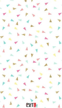 Pink mint turquoise gold mini triangle confetti iphone phone wallpaper background lockscreen pastel also giselle cazares Tumblr Wallpaper, Wallpaper Pastel, Mobile Wallpaper, Confetti Wallpaper, Confetti Background, Triangle Background, Unique Wallpaper, Cute Backgrounds, Phone Backgrounds
