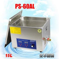 213.75$  Buy now - http://alit4r.shopchina.info/1/go.php?t=32807649522 - 1PC 110V/220V PS-60AL 360W Ultrasonic Cleaner 15L Cleaning Equipment Stainless Steel Cleaning Machine  #shopstyle