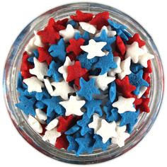 4th of July Baking: RWB Star Sprinkles // Layer Cake Shop