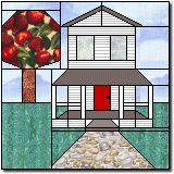 Paper pieced Farm house pattern© The Quilter's Cache/Marcia Hohn