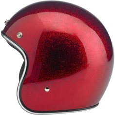 Biltwell Bonanza Helmet DOT Approved - Wine Red MF  This leaner, lighter and more comfortable DOT 3/4 lid boasts hand-painted finishes like our other lids. The interior boasts a custom-shaped EPS safety shell and a hand-stitched liner with moisture wicking brushed Lycra panels and open-cell foam padding for breathability and comfort. The rugged nylon neck strap features plated steel D-rings and a snap strap end retainer with Biltwell anvil branding. Available in six sizes, XS-XXL $119.95