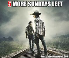 We have just 5 more Sundays left!