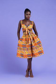 Tessa African Midi Print Skirt – Grass-fields