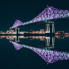 May 17 See illumination at 9:45 pm Jacques Cartier bridge    Photo from #375mtl on Instagram by julianlimh