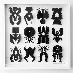 Teach Symmetry by Creating an insect collection - look at insect books and specimen art - yr 7-8 - present in cardboard shadow boxes