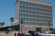 Nunca dejó de funcionar ....Oficina de Intereses de los Estados Unidos ,ahora le cambiaran el nombre por Embajada ! Adri Bosch Embajada de Estados Unidos en Cuba estará donde mismo esta la SINA.