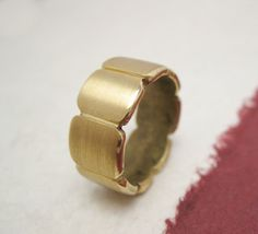 Sun Petals  forged and carved brass ring with by daganigioielli, $47.80
