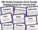 common core Language Arts Vocab for Visual arts writing
