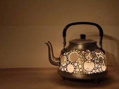 Garbage Lamps: From Trash To Treasure.  Like this much.  Kitchen light YES.