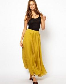 Browse online for the newest ASOS Pleated Maxi styles. Shop easier with ASOS' multiple payments and return options (Ts&Cs apply). Maxis, Mustard Skirt, Asos Skirts, Maxi Skirts, Bohemian Skirt, Pleated Maxi, Sheer Chiffon, Latest Fashion Clothes, Dress Up
