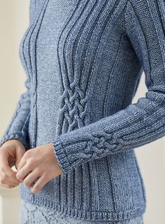 Ravelry: Selma pattern by Pat Menchini Cable Knitting, Sweater Knitting Patterns, Cable Knit Sweaters, Knitting Designs, Knitting Stitches, Knit Patterns, Free Knitting, Tricot D'art, Ravelry