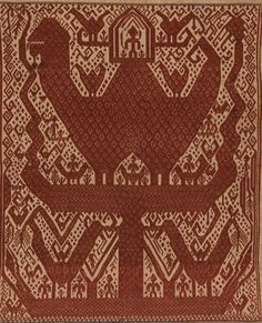 Ceremonial Textile (Tampan) from Indonesia, Sumatra, Lampung, century. Ikat, 19th Century, Bohemian Rug, Textiles, Culture, Rugs, Gallery, Pattern, Clothes
