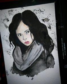 #JessicaJones #watercolor #sketch
