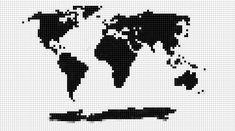 Punto de cruz en decoración + Patrón mapamundi | Handbox Craft Lovers…