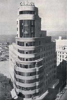 ARQUITECTURA VANGUARDIAS- El Edificio Carrión (Edif. Capitol, Edif. Schweppes), Gran Vía, Madrid