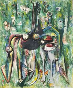 Le Sombre Malembo, Dieu du carrefour, 1943, by Wifredo Lam