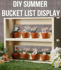 Make your own summer bucket list display