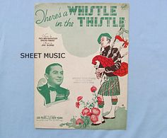 Comic Scotland Sheet Music Theres A Whistle in the Thistle