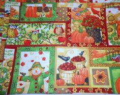 Owl and Scarecrow Placemat Set, 4 piece set, Fall Decor, Fall Placemats, Owl…