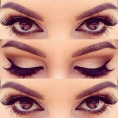 Make up for brown eyes: